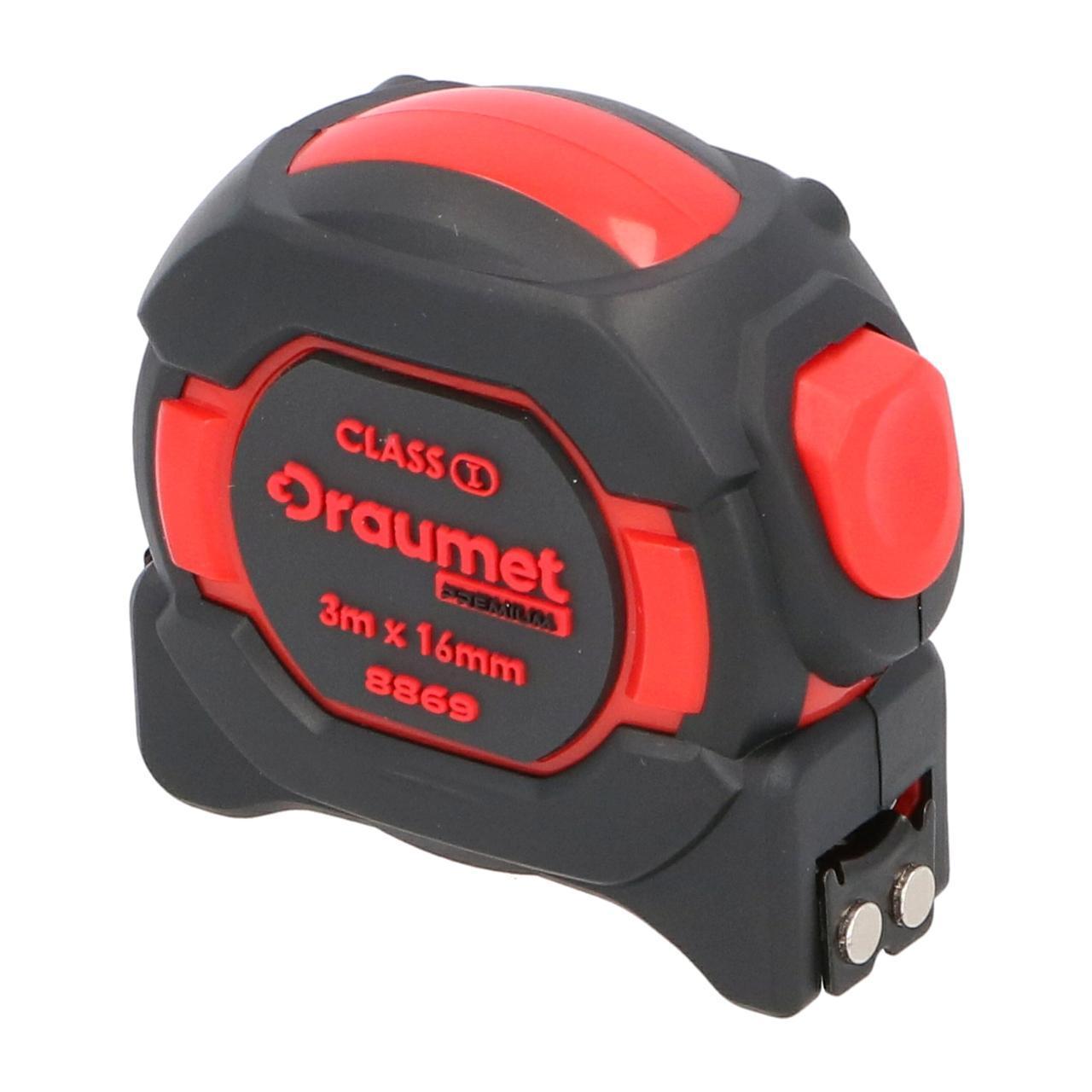 Рулетка з магнітом I клас точності 3 м х 16 мм DRAUMET