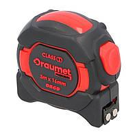 Рулетка з магнітом I клас точності 5 м х 25 мм DRAUMET