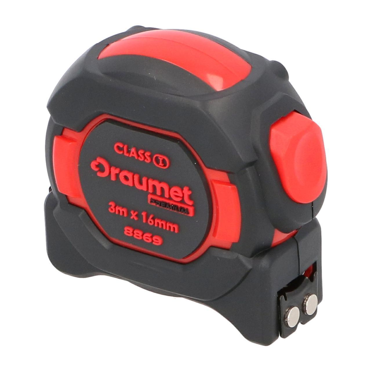 Рулетка з магнітом I клас точності 8 м х 25 мм DRAUMET
