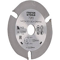 Круг для кутової шліфувальної машини FASTER TOOLS 125х22,2 мм 3 зуб.