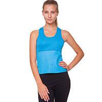 Майка для похудения Zelart, неопрен, полиэстер, сетка, p-p S-XL-42-48, синий (FI-4818-(bl))
