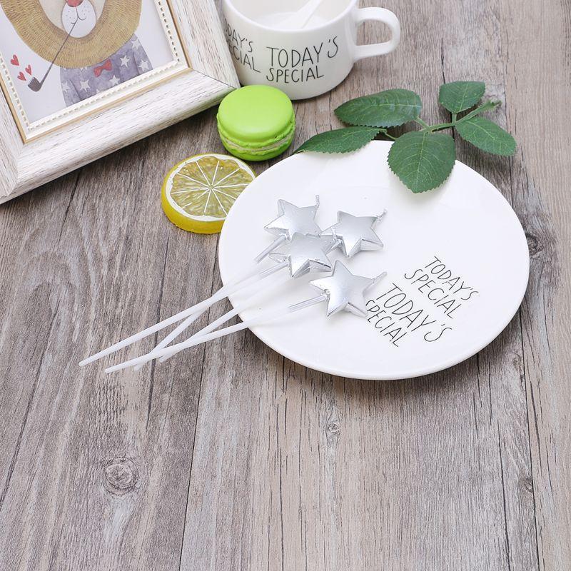 Свічки в торт зірки срібло 1720