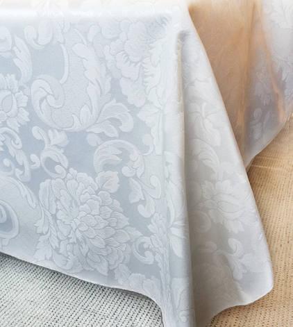 Ткань Скатертная TS-360354 Цветы 360см Белая Италия, фото 2