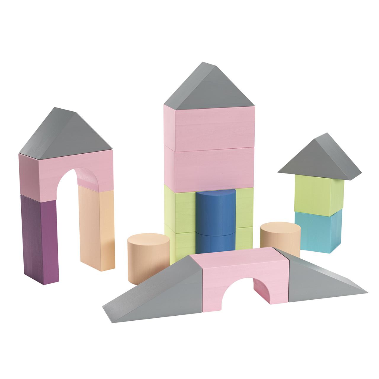 Дерев'яні кольорові кубики