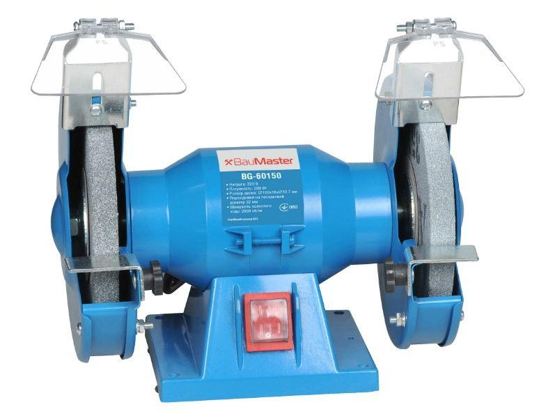 Точильний верстат (150 мм, 200 Вт) BauMaster BG-60150