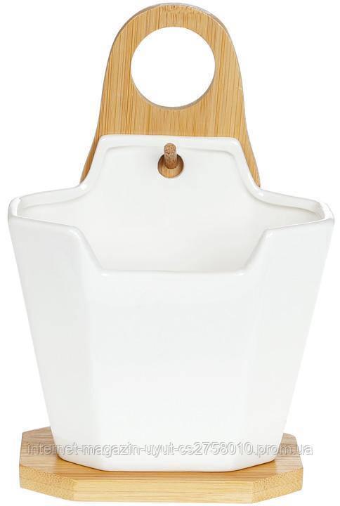 Подставка Nouvelle Home для столовых приборов 12.5х6.7х12.1см фарфоровая