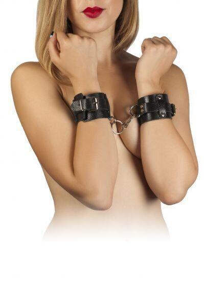 Наручники Leather Dominant Hand Cuffs, black