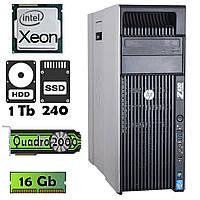Комп'ютер HP Z620 (Xeon E5-2609/16Gb/1Tb/ssd 240/Quadro 2000) БО
