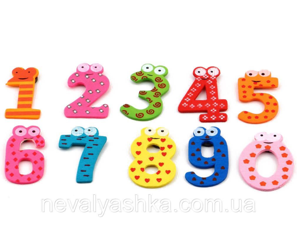 Деревянные Цветные Цифры для бизиборда Набор цифр 0-9 дерев'яні цифри 5 см комплект заготовка из дерева
