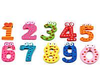 Деревянные Цветные Цифры для бизиборда Набор цифр 0-9 дерев'яні цифри 5 см комплект заготовка из дерева, фото 1