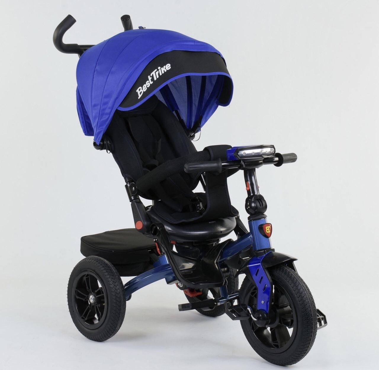 Велосипед 3-х колесный 9500 Best Trike 4 Цвета на Выбор Поворотное сидение Складной руль Рус озвучка