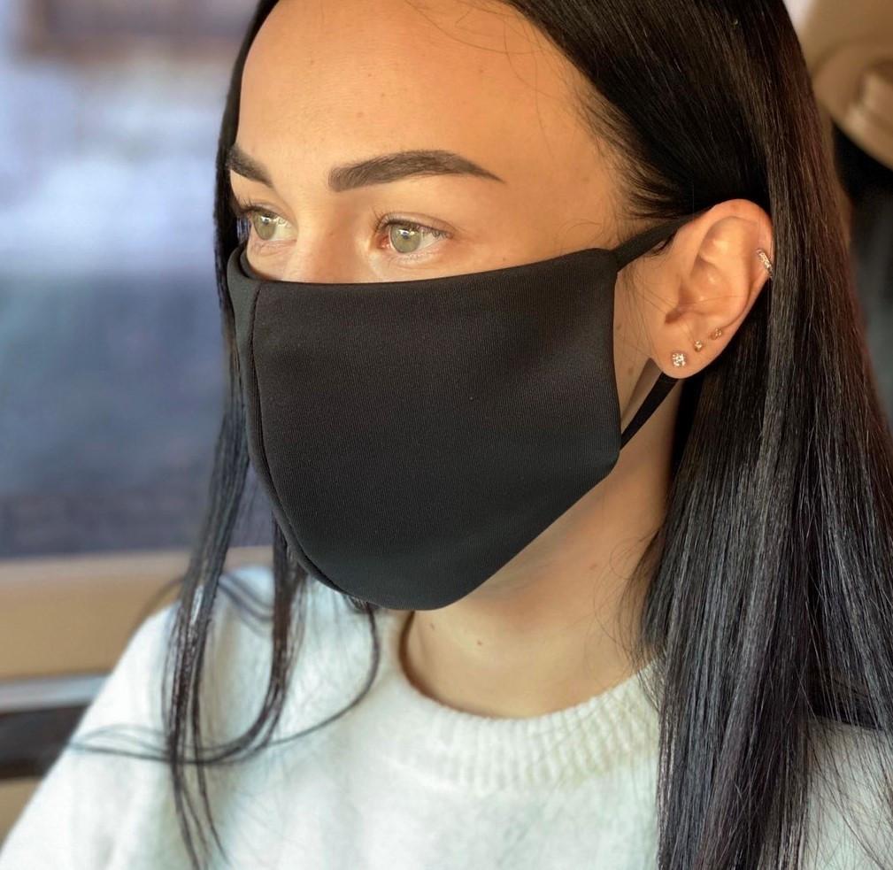 Комплект 10 шт. Многоразовая маска защитная D9424 черная