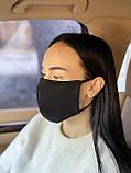 Комплект 10 шт. Многоразовая маска защитная D9424 черная, фото 2