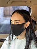 Комплект 10 шт. Многоразовая маска защитная D9424 черная, фото 3
