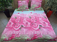 Комплект постельного белья ранфорс Розы Полуторный
