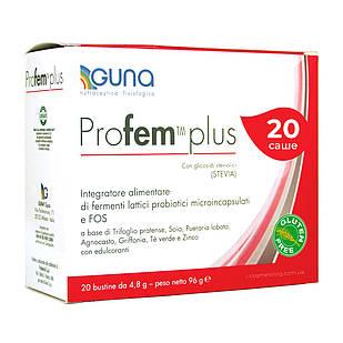 Profem Plus (GUNA, Италия). Для здоровья женщины в менопаузе. 20 саше, 96 г