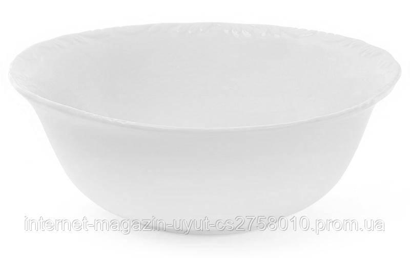 "Набор 3 фарфоровых салатника ""White Prince"" 1.1л (белый фарфор)"