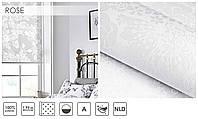 Рулонные шторы тканевые ролеты ROSE белый