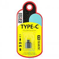 Переходник Metal Short USB OTG Type-C RT-OT06 Серый