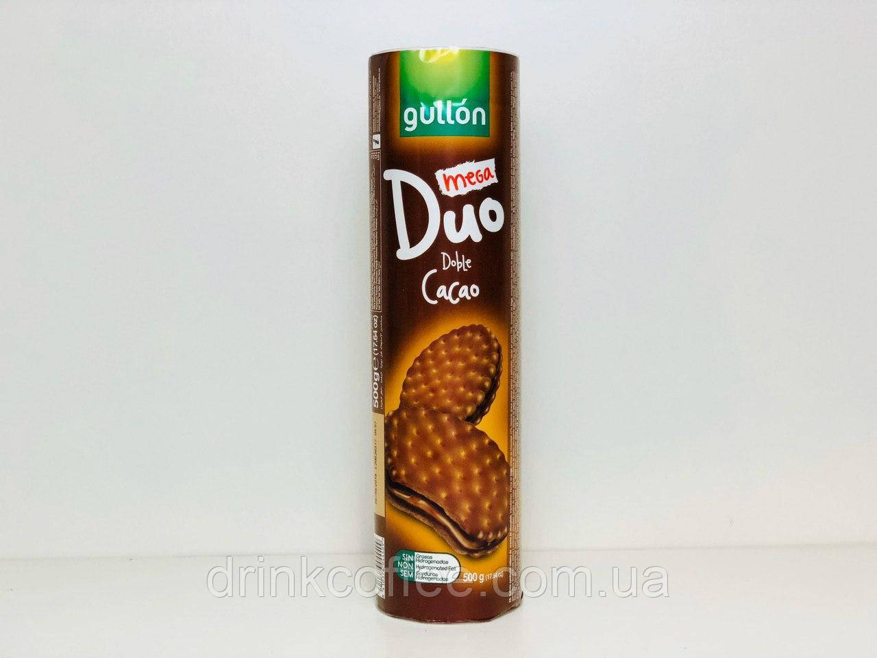 Печенье сэндвич Gullon Duo Double Cacao Испания 500г