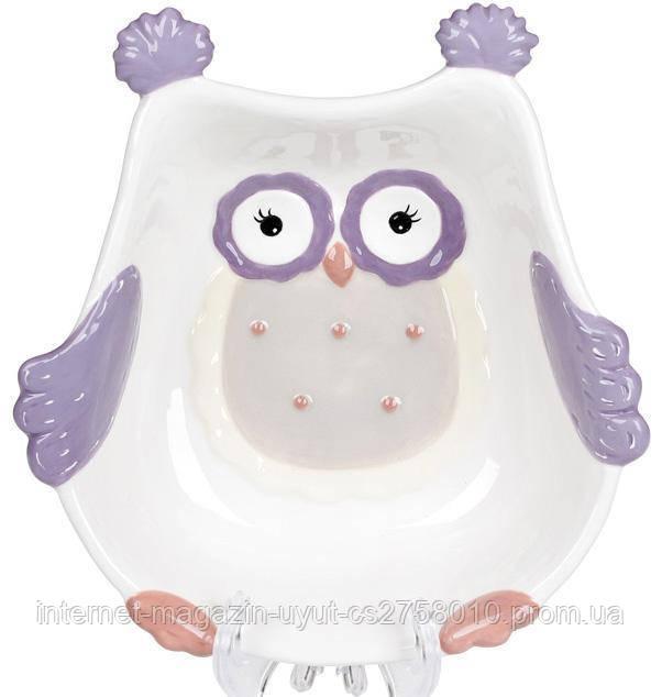 "Набор 4 пиалы ""Owl Family"" 400мл керамика"