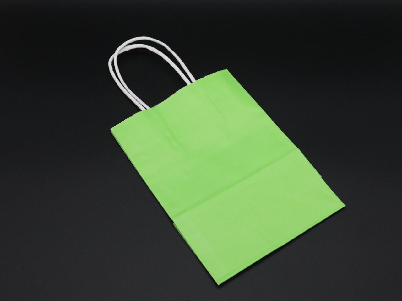 Крафт пакеты. Цвет зеленый. 15х8х21см