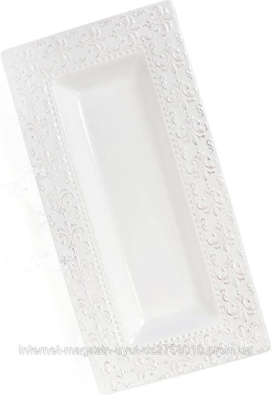 Набор 2 керамических блюд Leeds Королевская Лилия 40.5х20.3х4см, прямоугольное