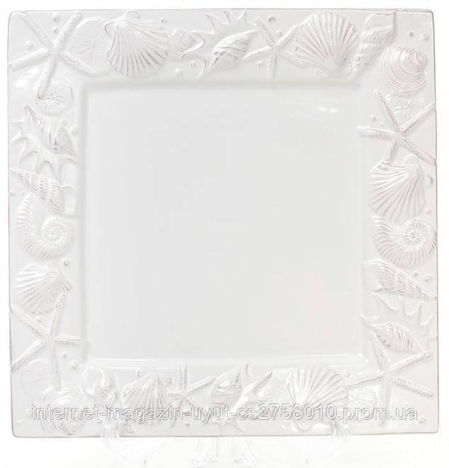 "Набор 3 блюд ""Морской Бриз"" 26х26х2.4см, керамика, белое"