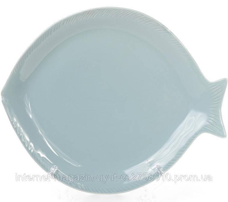 """Набор 4 блюдо керамическое """"Морской Бриз Рыба"""" 20х17х2.3см"""