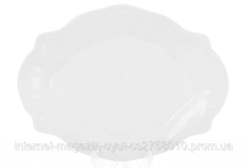 "Набор 6 фарфоровых блюд ""White City Орнамент"" 18х14см (белый фарфор)"