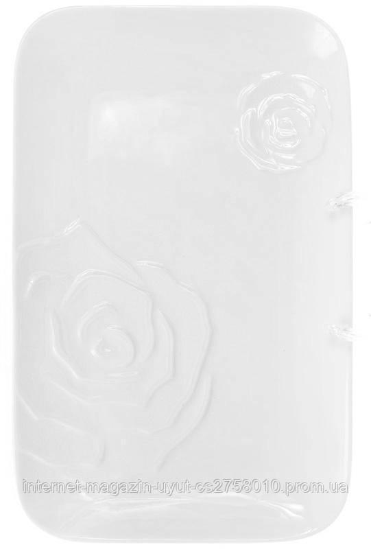 """Набор 2 блюд """"White Rose"""" прямоугольное 34х21.5см (белый фарфор)"""
