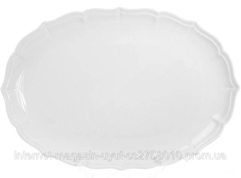 """Набор 2 блюдо фарфоровое """"White Prince-2"""" овальное 39.6х27.2см (белый фарфор)"""