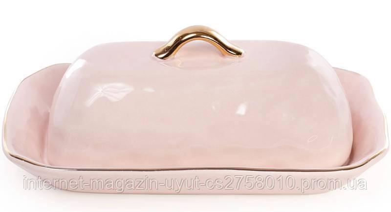 Масленка Bergamo 22х13.4х8.1см, розовая
