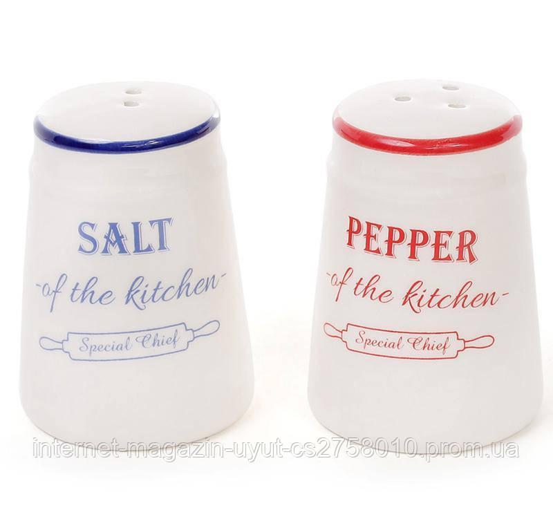 Набор спецовников Red&Blue 5.5х7.5см для соли и перца