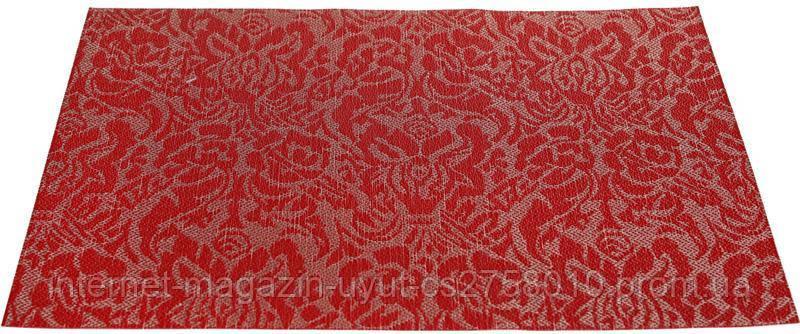 Набор 6 сервировочных ковриков Wangelis Red Flowers 30х45см, полиэстер