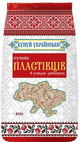 """Пластівці ТМ""""Купуй Українське"""" 400г/20шт Суміш 4-х злаків"""
