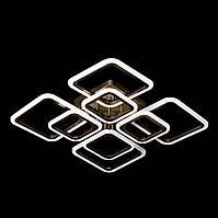 Люстра светодиодная с пультом управления SL-5342/4+4B AB 192W DIMMER 3000-6000 H120*L600*W600