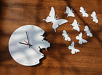 """Годинник настінний """"Метелики"""""""