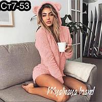 Женская махровая пижама с шортиками