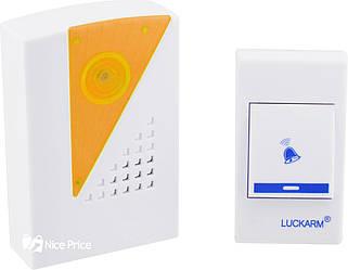 Бездротовий дверний дзвінок від розетки 220V Luckarm Intelligent A006 Orange (2789)