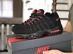 Чоловічі кросівки Nike 95 (чорно-червоні) 9150, фото 3