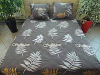 Комплект постельного белья ранфорс Листья, фото 1