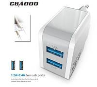 CBAOOO EU 5V 2.4A USB зарядное устройство для смартфона, телефона