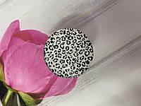 Держатель для смартфона / планшета попсокет Popsocket 3D глянцевый (Леопард белый)