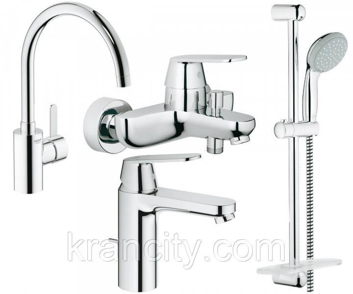 Набор смесителей для ванны+кухня 4 в 1 GROHE EUROSMART COSMOPOLITAN 126115MK