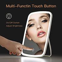 Настольное зеркало Xiaomi Jordan&Judy (NV026) для макияжа со светодиодной led-подсветкой на аккумуляторе Белый