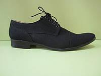 """Обувь из льна. Туфли мужские """"Модо"""" черный лен"""