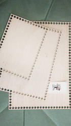 Заготівля з фанери прямокутна (20*28 см)