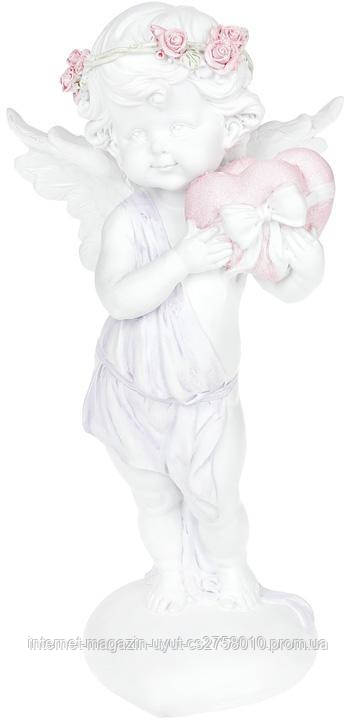 "Статуэтка декоративная ""Ангел с сердечками"" 12.8х10.2х24.8см"
