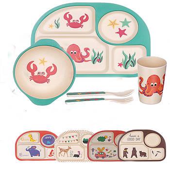 Набор детской посуды A-PLUS ECCO 5 предметов (BF-558) Бамбук